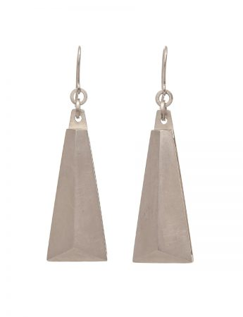 Blade Earrings - Matte Silver