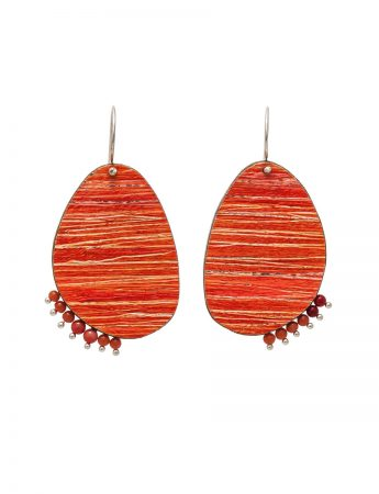 Blaze Earrings - Orange