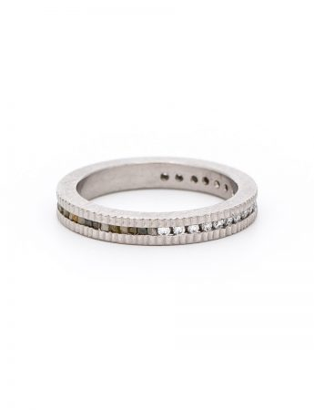 Brilliant & Raw Diamonds Ring - Palladium