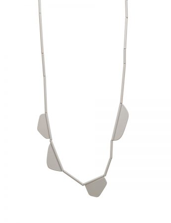 Flap Necklace - Grey