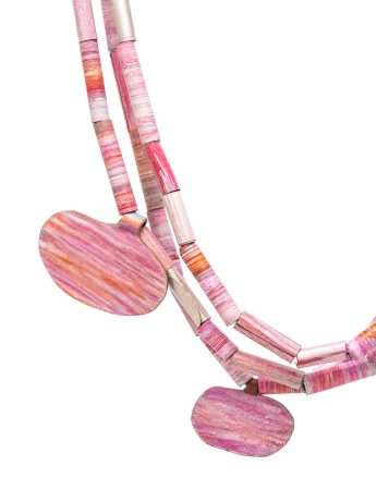 Landlines Necklace – Sunrise Pink