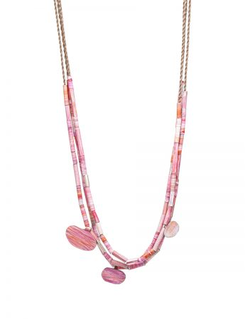 Landlines Necklace - Sunrise Pink