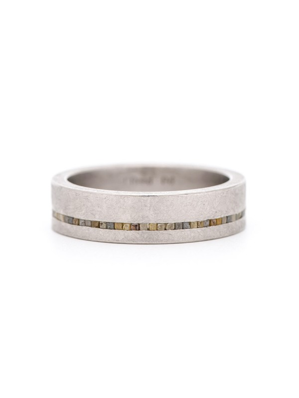 Off Centre Eternity Ring – Palladium