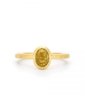 Yellow Oval Fancy Diamond Ring
