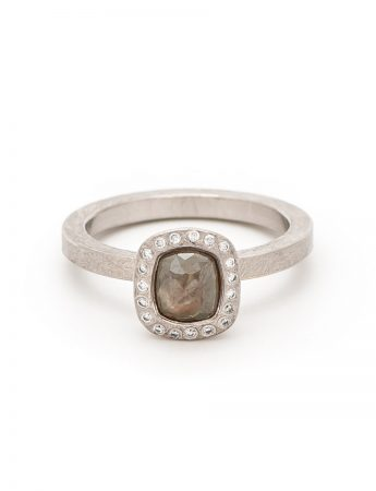 Grey Fancy Diamond Ring – Palladium