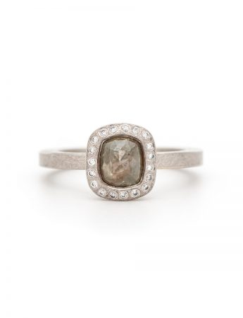 Grey Fancy Diamond Ring - Palladium