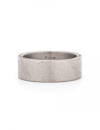 Raw Diamond Cube Ring - Palladium