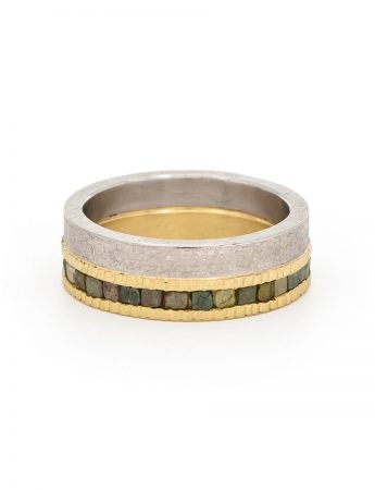 Raw Diamond Eternity Ring - Gold & Palladium