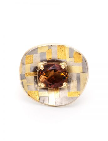 Shared Terrain Ring - Orange Tourmaline