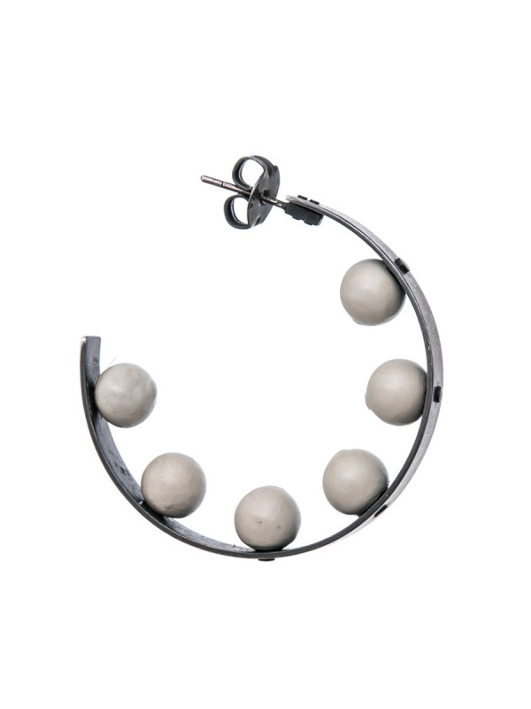Sphere Hoop Earrings – Grey
