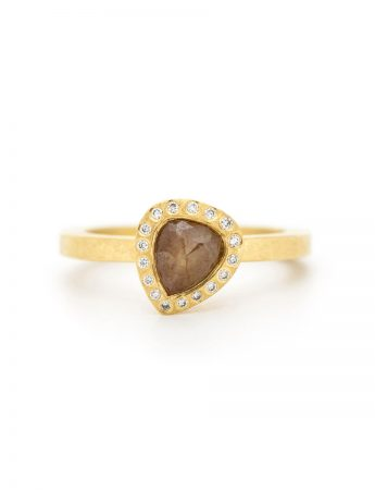 Teardrop Fancy Diamond Ring - Gold