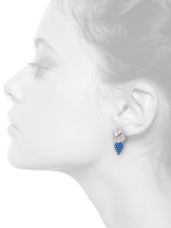 Two Sapphires – Stud Earrings