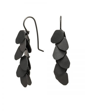 Wisteria 6 Drop Earrings - Oxidised Silver