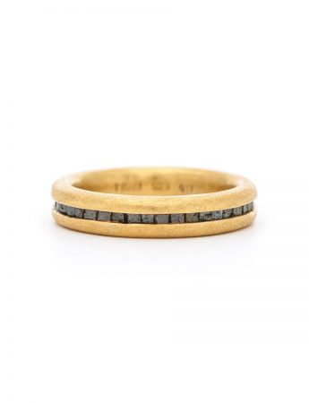Wrapped Raw Diamond Ring - Gold
