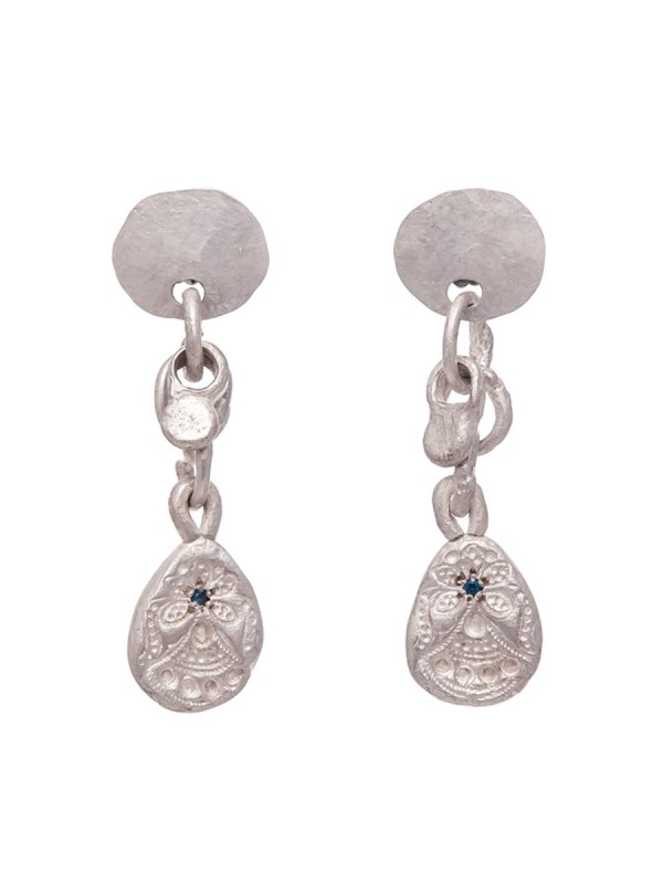 Alexandra Earrings – Blue Sapphire