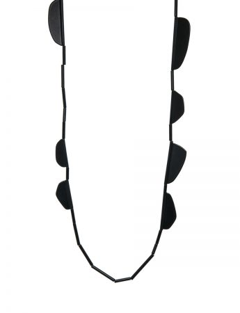 Black Flap Neckpiece - Long