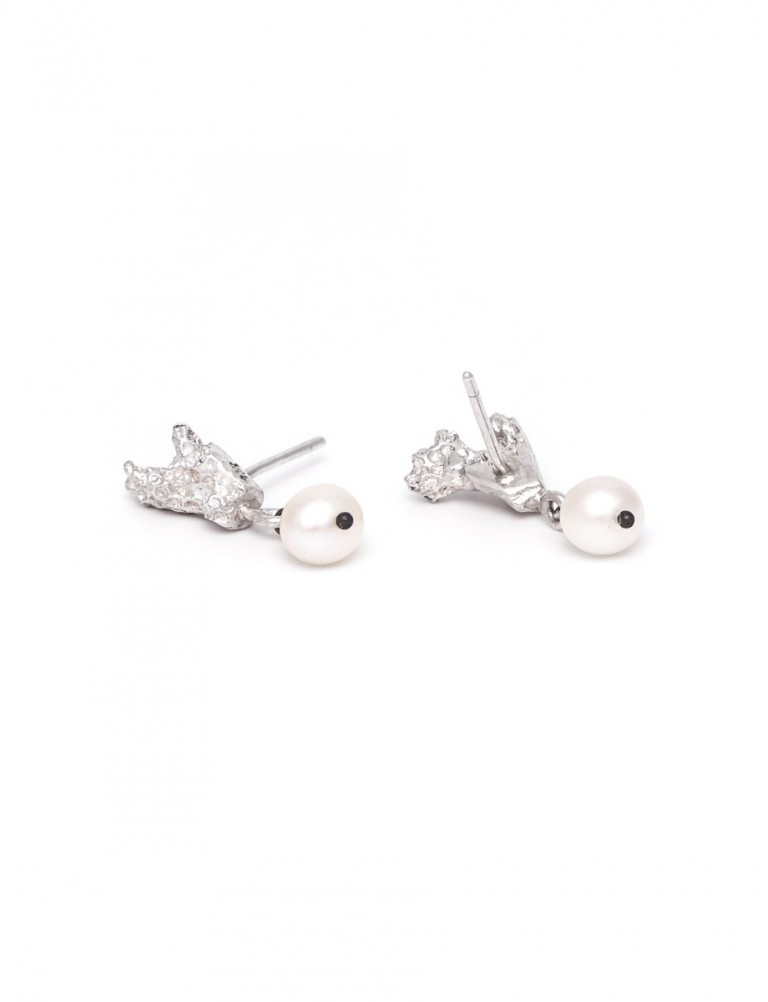 Coral Stud Earrings – Freshwater Pearl