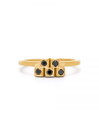 Five Black Diamond Ring