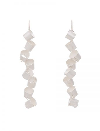 Long Foxglove Earrings - Silver