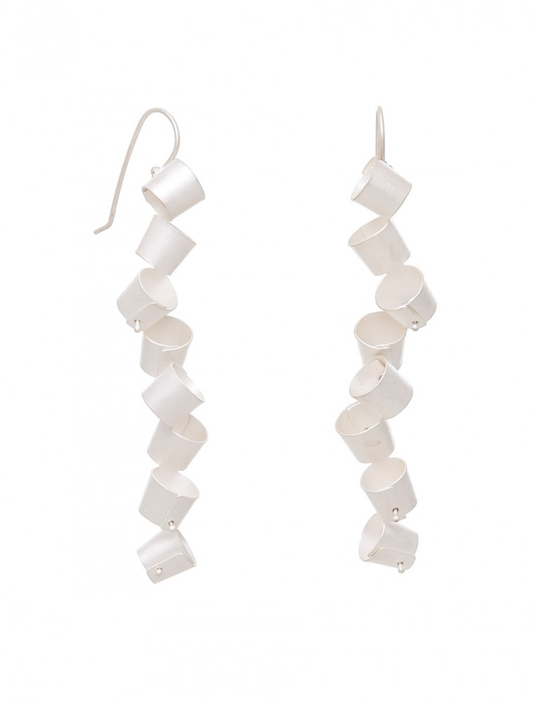 Long Foxglove Earrings – Silver