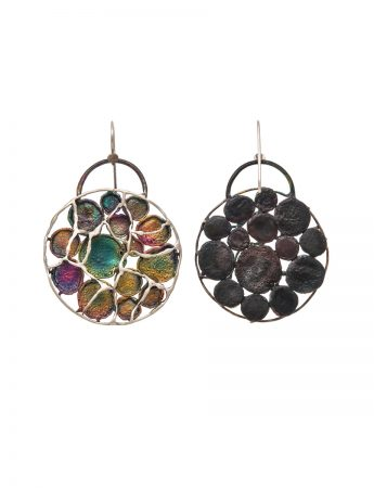 Hanging Earrings - Shibuichi