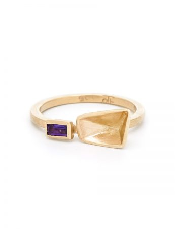 Inverted Prism Ring - Amethyst