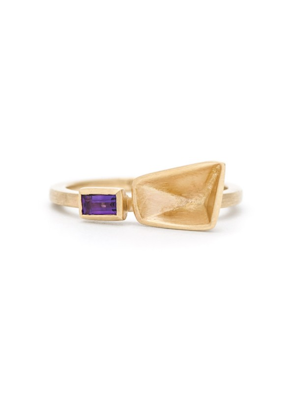 Inverted Prism Ring – Amethyst