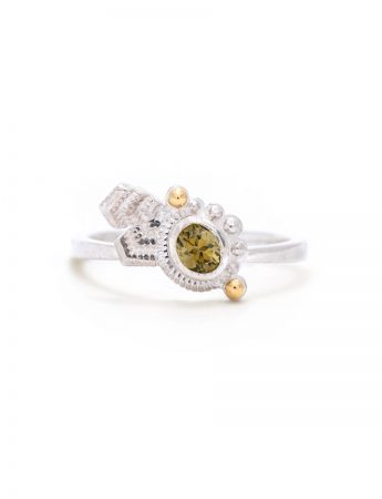 June Bud Ring - Olive Zircon
