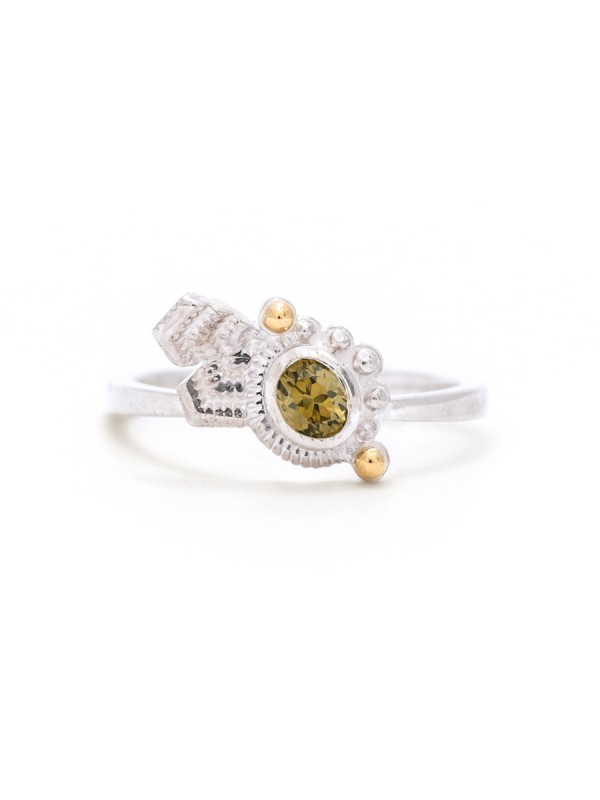 June Bud Ring – Olive Zircon