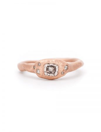 Morning Light Ring - Rose Gold & Diamonds
