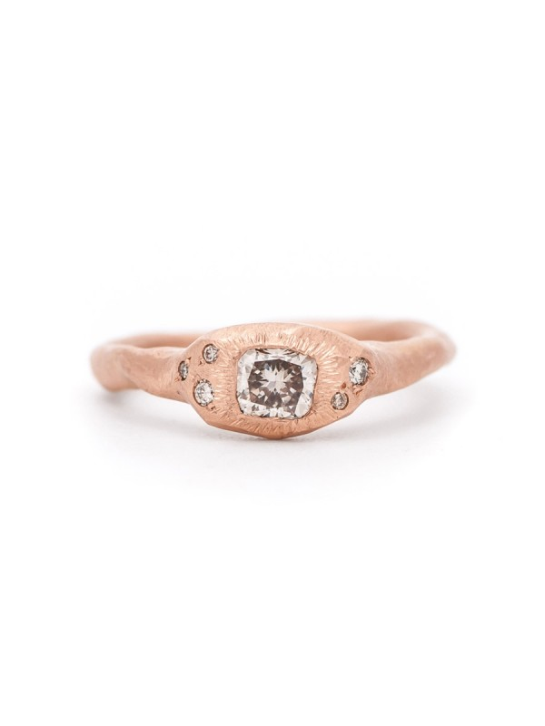 Morning Light Ring – Rose Gold & Diamonds