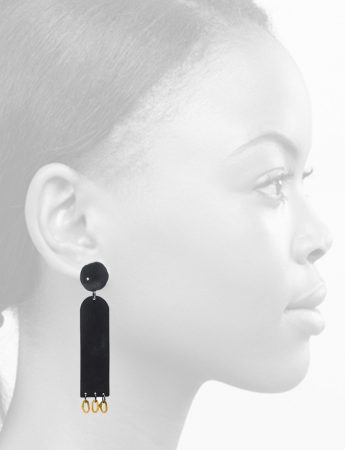 Neru Disc Diamond Earrings