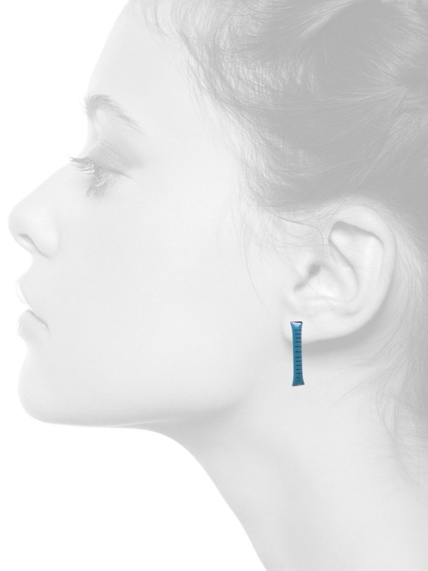 Small Pillow Earrings – Light Blue