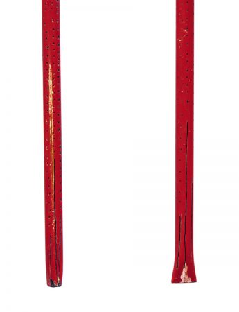 Long Pillow Earrings - Red