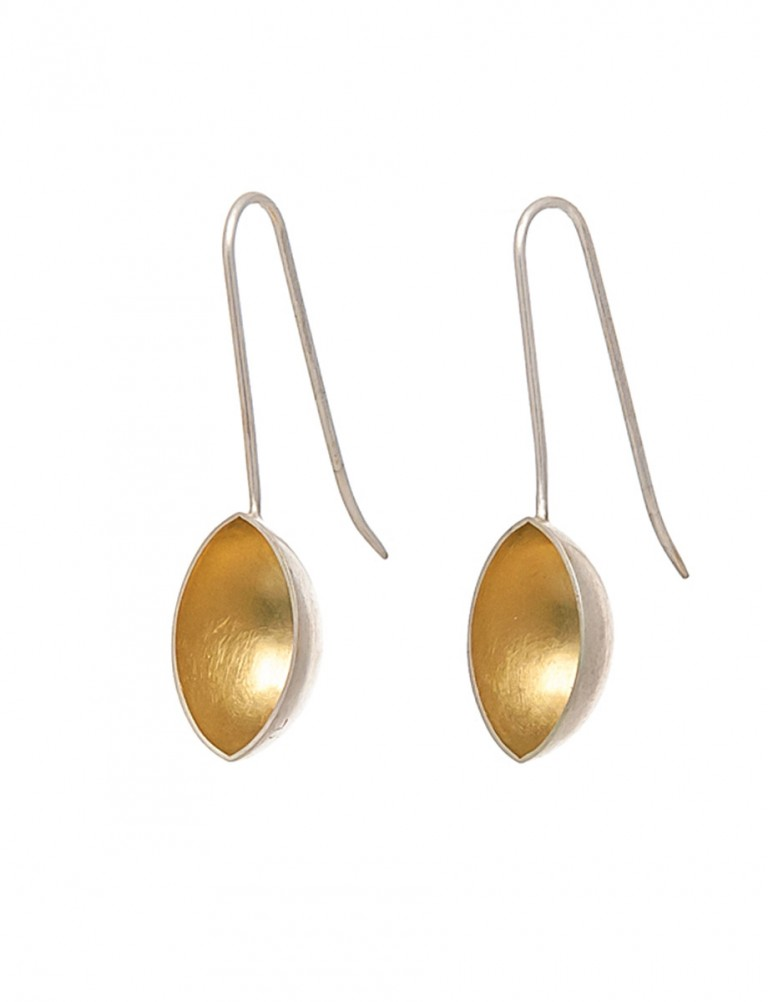 Pod Earrings – Gold & Silver