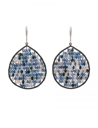 Reef Earrings - Silver Sapphire