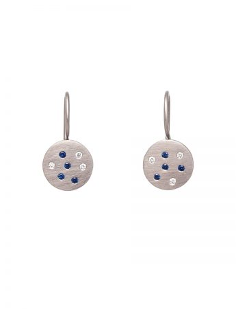 Sapphire Speckled Earrings