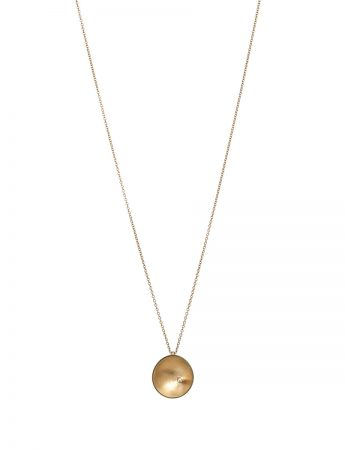 Sea Dish Diamond Pendant Necklace - Gold