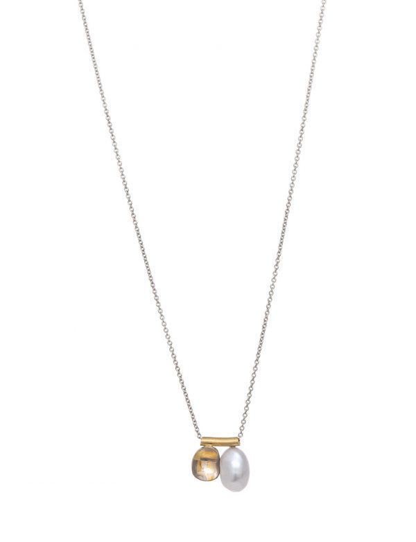 Shared Terrain Pearl Pendant Necklace