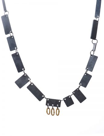 Shikaku Necklace - Black & Gold