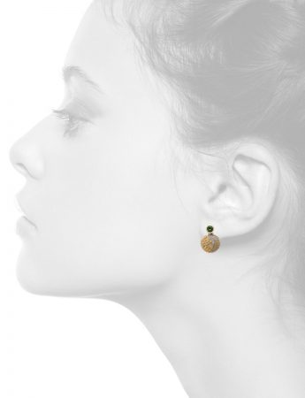Leaf Stud Earrings – Tourmaline