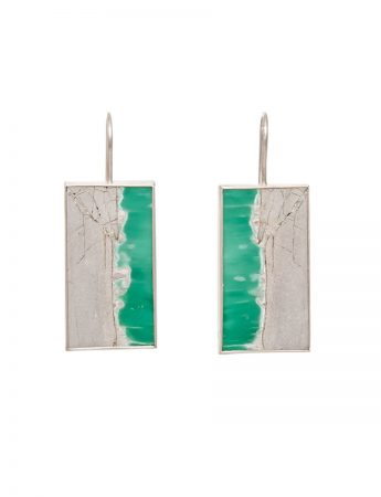 Variscite Large Hook Earrings