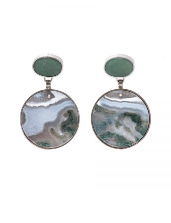 Stone Earrings – Amazonite & Agate