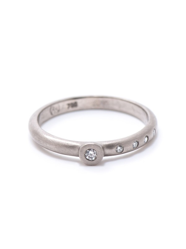Confetti Diamond Ring – White Gold