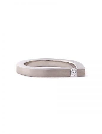 Descend Diamond Ring - White Gold