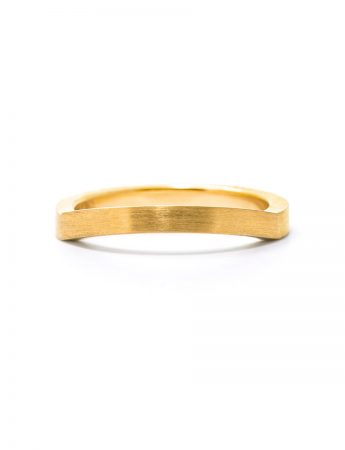 Edge Wedding Ring - Gold