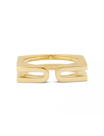 Fold Ring - Yellow Gold