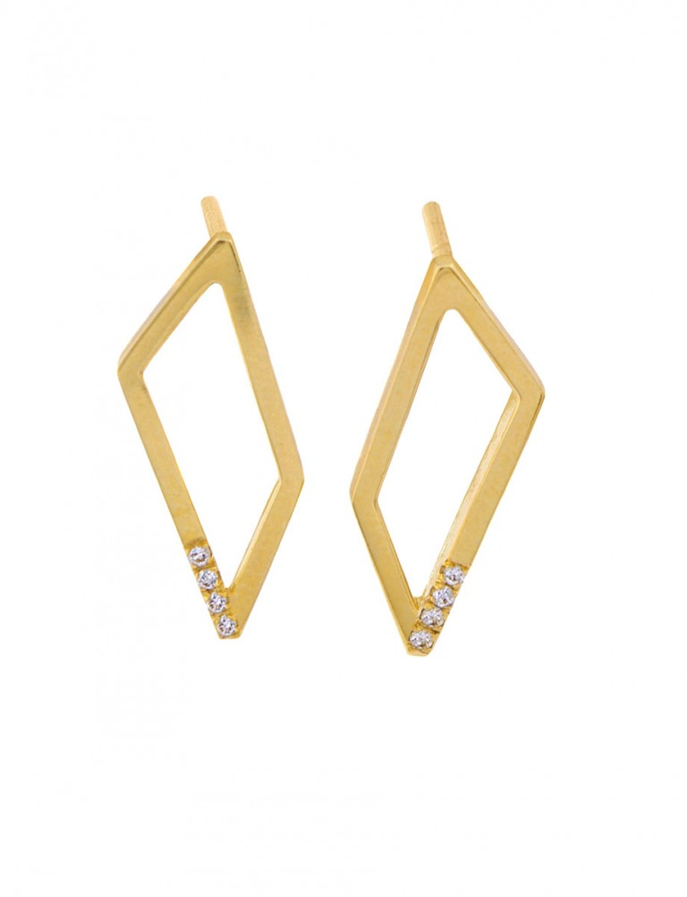 Gradient Diamond Earrings – Yellow Gold