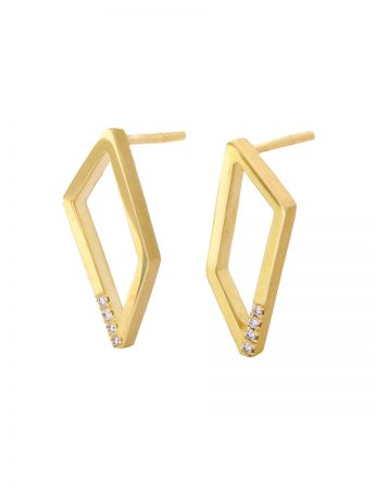 Gradient Diamond Earrings - Yellow Gold