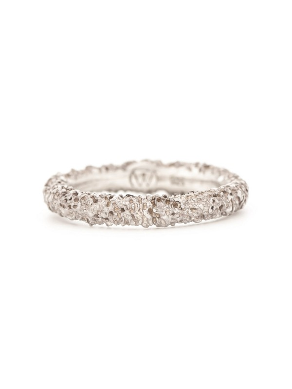 Thin Sunken Ring – Silver